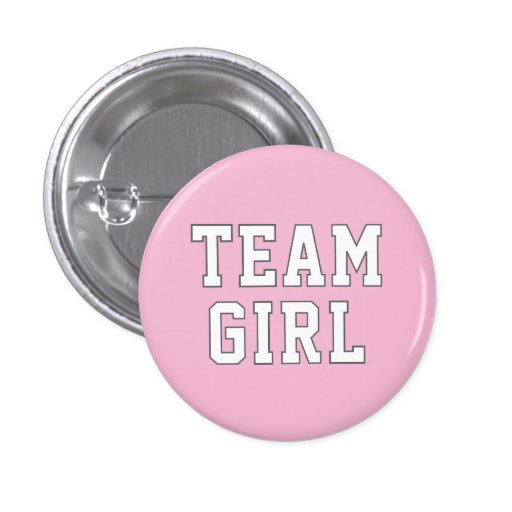 Team Girl   Baby Gender Reveal Party Buttons