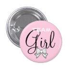 Team Girl-Baby Shower 1 Inch Round Button