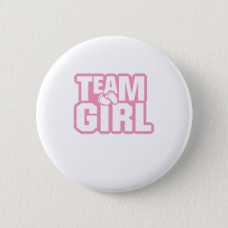 Team Girl Baby Shower Gender Reveal Funny Pregnant Button