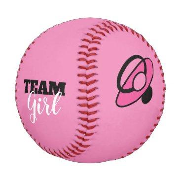 Team Girl Gender Reveal Baseball