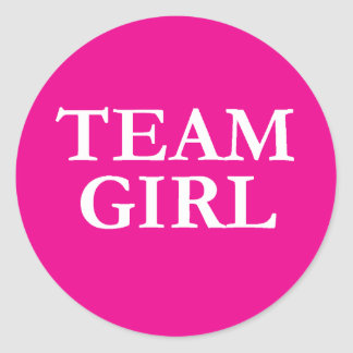 Team Girl - Gender Reveal Stickers