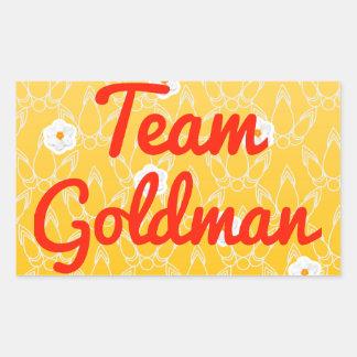 Team Goldman Rectangular Sticker
