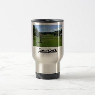 Team Golf (Golfer On Golf Course) Travel Mug