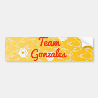 Team Gonzales Car Bumper Sticker