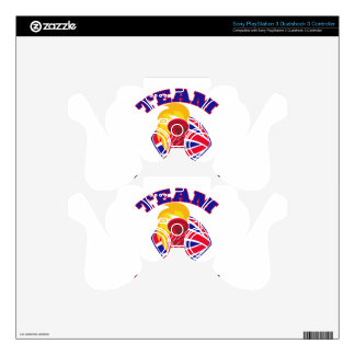 team great britain gb hand hold flaming torch brit PS3 controller decal