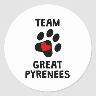 Team Great Pyrenees Classic Round Sticker