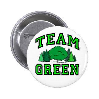 Team Green 2 Inch Round Button