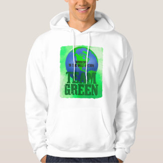 Team Green  Basic Hooded Sweatshirt