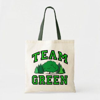 Team Green Budget Tote Bag