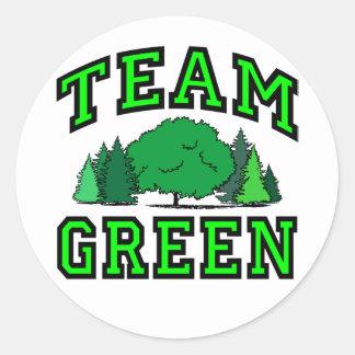 Team Green Classic Round Sticker