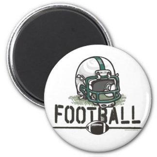 Team Green Football Gear Refrigerator Magnets