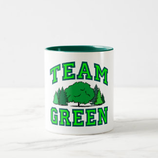 Team Green III Two-Tone Coffee Mug