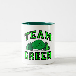Team Green Two-Tone Coffee Mug