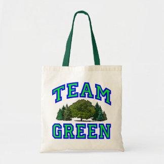 Team Green V Budget Tote Bag