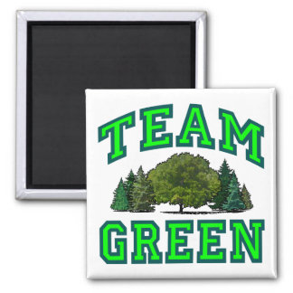 Team Green VI 2 Inch Square Magnet