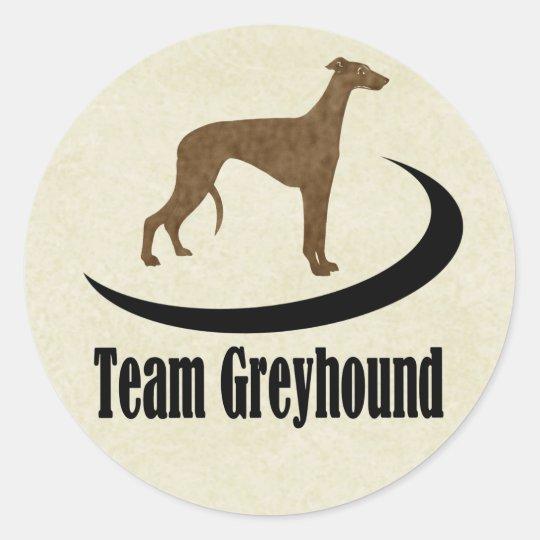 Team Greyhound Dog Logo Classic Round Sticker