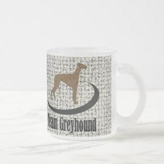 Team Greyhound Logo 10 Oz Frosted Glass Coffee Mug