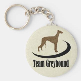 Team Greyhound Logo Plain Basic Round Button Keychain