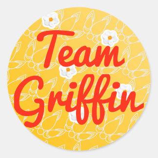 Team Griffin Classic Round Sticker