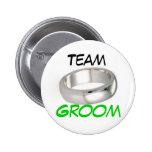 Team Groom 2 Inch Round Button