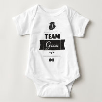 Team groom baby bodysuit