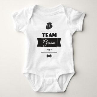 Team groom baby bodysuit