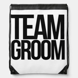 Team Groom bachelor party Drawstring Bag