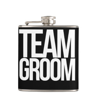 Team Groom bachelor party Flask