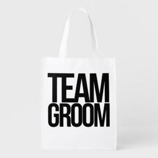 Team Groom bachelor party Grocery Bag