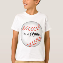 Team Groom Baseball T-Shirt