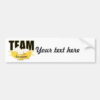 Team Groom - Beer Car Bumper Sticker