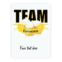 Team Groom - Beer Card