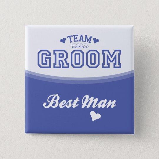 Team Groom Best Man Button