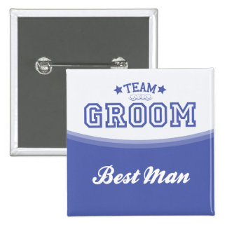 Team Groom-Best Man (Stars) Button