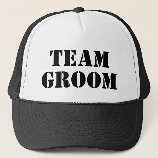 TEAM GROOM black bachelor party trucker hats  111d3f67919c