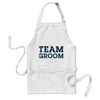 Team Groom Blue Outline Adult Apron