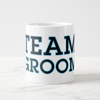 Team Groom Blue Outline Large Coffee Mug
