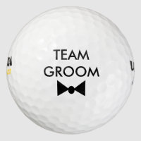 Team Groom Bow Tie Bachelor Party Golf Balls