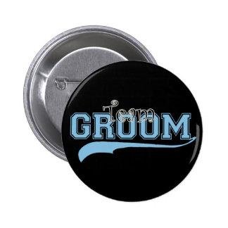 Team Groom Pinback Button