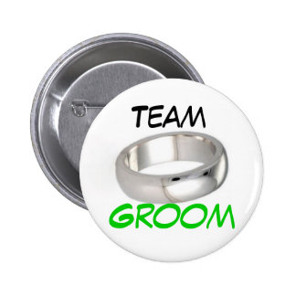 Team Groom Pinback Buttons