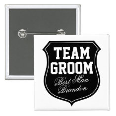 Team Groom Buttons | Personalize For Wedding Party at Zazzle