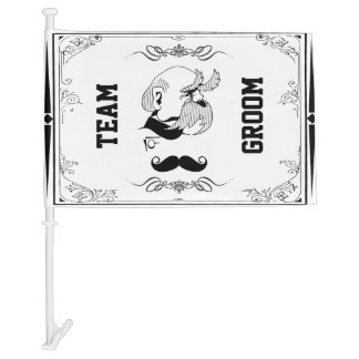 TEAM Groom Car Flag
