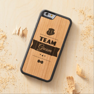 Team groom carved cherry iPhone 6 bumper case