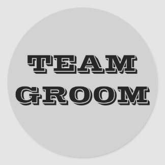 Team Groom Classic Round Sticker