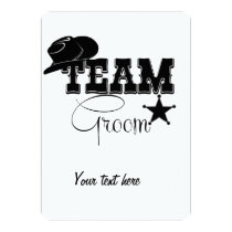 Team Groom - cowboy Card