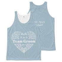 Team Groom custom text & year wedding tank top
