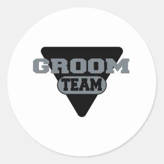 Team Groom Design Classic Round Sticker