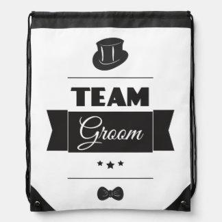 Team groom drawstring bag