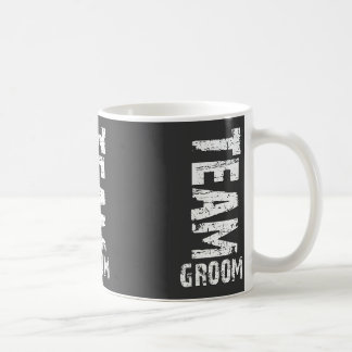 Team Groom Extra Large Grunge Text Coffee Mug
