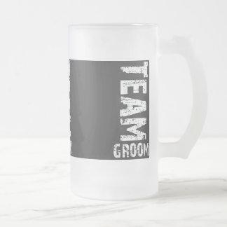 Team Groom Extra Large Grunge Text Coffee Mugs